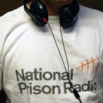 NPR presenter in T with headphones